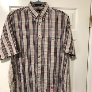 Burberry authentic vintage short sleeve shirt M
